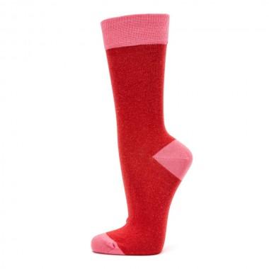 VERALUNA SOCKS PINK RED PLAIN