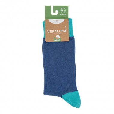 VERALUNA SOCKS BLUE PLAIN