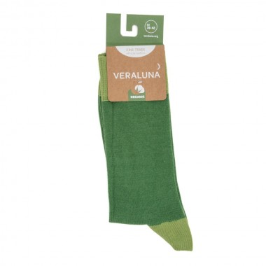 VERALUNA SOCKS GREEN PLAIN