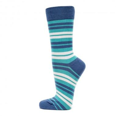 VERALUNA SOCKS BLUE STRIPES