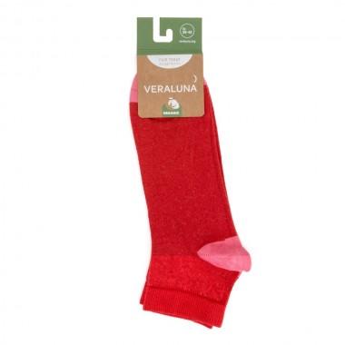 VERALUNA SOCKS PINK RED ANKLE