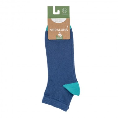 VERALUNA SOCKS BLUE PLAIN...