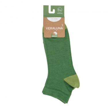 VERALUNA SOCKS GREEN PLAIN...