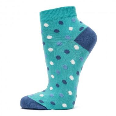 VERALUNA SOCKS BLUE DOTS ANKLE