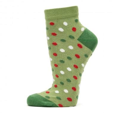 VERALUNA SOCKS GREEN DOTS...